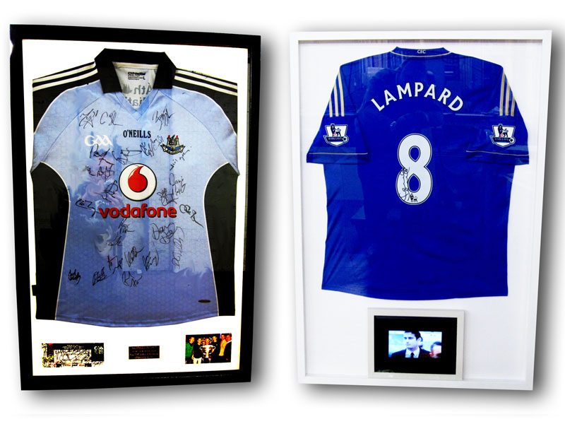 How To Frame A Jersey >> Dublin Jersey Framing Picture Framing Dublin Custom Jersey Framing