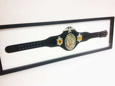 Custom Framing a belt